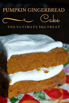Gingerbread Pumpkin Cake with Cinnamon Cream Cheese Frosting