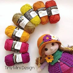 Amigurumi Tini Mini Kız Yapılışı-Free Pattern Tini Mini Dolls - Tiny Mini Design Knitting For BeginnersKnitting HatCrochet BlanketCrochet Bag Crochet Dolls Free Patterns, Crochet Motifs, Crochet Doll Pattern, Doll Patterns, Clothes Patterns, Crochet Gifts, Diy Crochet, Crochet Baby, Mini Amigurumi