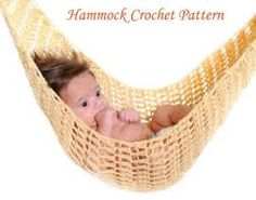 Image result for crochet baby hammock pattern