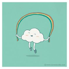 Day 2 : Rainbow Skipping by ILoveDoodle, via Flickr
