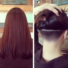 This hidden hairline.   These Cool Hair Designs Will Give Your Ponytail New Life