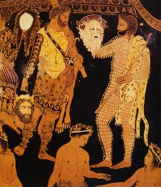 """ACTOR'S MASKS"" ~ Red Figure Pottery Theatre of Ancient Greece"