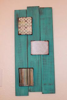 Adding Decoupage to a painted wall hanging.