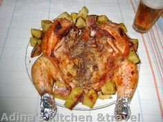Adina's kitchen & travel: Pui marinat si friptura frageda,piperata la tava Gordon Ramsay, Turkey, Meat, Kitchen, Food, Travel, Cooking, Viajes, Turkey Country