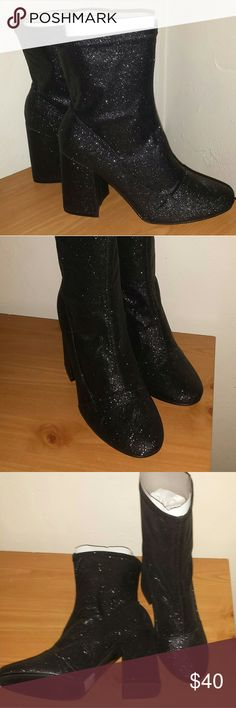 ❌❌keeping❌❌ Brand New Sparkle Booties Super cute sparkle booties. Brand new. Never tried on. My feet are too wide to even get them on my feet. Tags: Forever 21 Charlotte ruse victorias secret rue 21 goth boots heels black grunge punk lolita demonia wet seal killstar iron fist pagan wiccan wicca Dillard's juicy couturier Shoes Ankle Boots & Booties