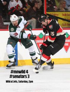 Back and forth game, but #mnwild take the game, 4-3 in Ottawa.