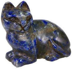 Bast, a cheerfully relaxed cat from last dynasty #Egypt made from Lapis Lazuli mined in #Afghanistan