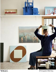 Nathalie du Pasquier is a French artist who has lived in Milan since 1979, where she has worked as a part of the Memphis collective.
