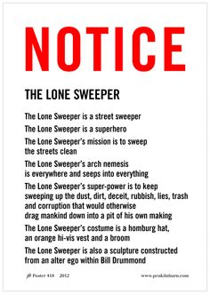 THE LONE SWEEPER - Sculpture NOTICE 418
