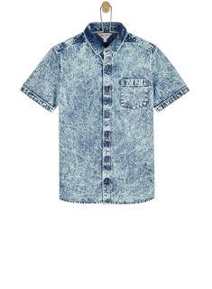 Buy Outfit Kids Denim Revere Collar Shirt from the Next UK online shop Revere Collar, Blue Denim Shirt, Home Outfit, Collar Shirts, Boy Outfits, Men Casual, Uk Online, Boys, Mens Tops
