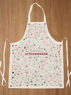 The Cartography of Kitchenware Apron, $30