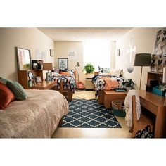 Triple the roomies, triple the style. Can we move in @studenthousingnyc?!   dormify.com