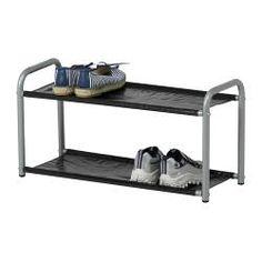 LUSTIFIK Hat/shoe rack, silver color/black - IKEA