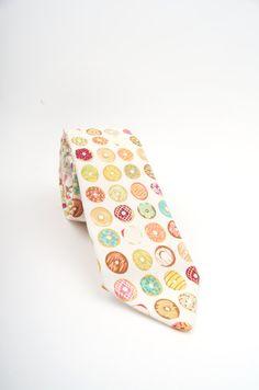 Donut necktie donut tie dougnut necktie men's tie by DapperGent