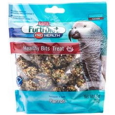 Kaytee Forti-Diet Pro Health Healthy Bits for Parrot provide a crunchy, fun-to-eat treat for your pet. Healthy Bits are made with nuts, fruit, seeds and a touch of honey, all packed into a perfect size morsel to offer by hand or in a treat dish.