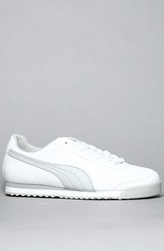 I'll take these please.The Roma Basic Sneaker in White & Grey by Puma.