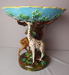 This extremely rare George Jones majolica comport has just been discovered