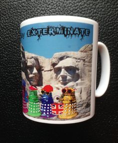 Dr Who Daleks as Tourists in America Mug by Hx5Designs on Etsy