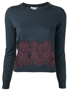 CARVEN - lace panel sweater (Definitely planning to DIY).