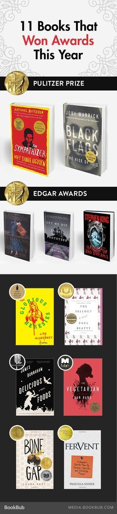 11 Books that  won awards so far this year, including, The Sympathizer by Viet Thanh Nguyen.