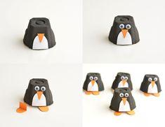 simpáticas ideas de manualidades con hueveras paso a paso, figuras pinguino hechas a mano Egg Carton Art, Diy And Crafts, Crafts For Kids, Projects For Kids, Art For Kids, Baby Kids, Tropical, Ideas Manualidades, Anime