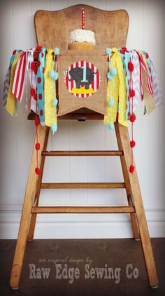 Hey, I found this really awesome Etsy listing at https://www.etsy.com/listing/249276332/circus-elephant-birthday-age-high-chair