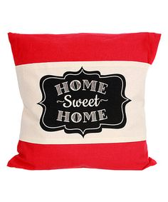 Love this White & Black 'Home Sweet Home' Pillow Wrap on #zulily! #zulilyfinds
