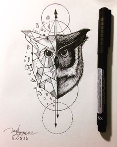 #owl #geometric #animal …