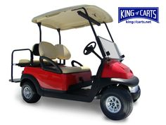 Cool red golf cart
