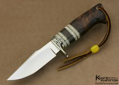 "D'Alton Holder Custom Knife ""Natchez"" Engraved By Pat Holder with Royal Russian Walnut & Oosic - D'Alton Holder custom knife - image 1"