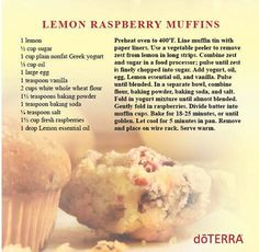 I have a list of the Best doTERRA Essential Oil Breakfast Recipes. Essential oils are so easy to use in food recipes like these breakfast recipes. Cooking With Essential Oils, Essential Oil Uses, Doterra Essential Oils, Yl Oils, Nonfat Greek Yogurt, Greek Yogurt Recipes, Lemon Raspberry Muffins, Elixir Floral, Doterra Recipes