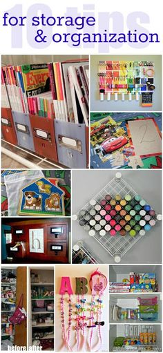 para se organizar - 10 DIY Storage and Organization Tips - Mad in Crafts Craft Room Storage, Craft Organization, Diy Storage, Storage Ideas, Shelving Ideas, Organizing Ideas, Paint Storage, Craft Rooms, Organising Hacks