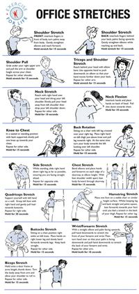 Office Stretches #yoga #desk chair #ergonomics Repinned by  SOS Inc. Resources  http://pinterest.com/sostherapy.