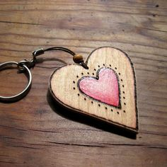 Win this cute wooden heart keyring! can be personalised according to the winners wants :)