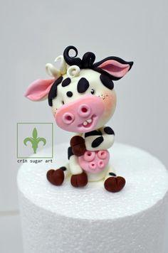 Happy cow crin.sugarart - cake by Crin sugarart