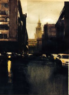 Moscow acrylic watercolor