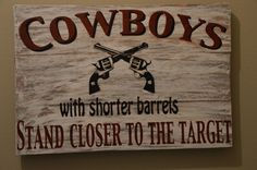 Fun bathroom sign for western decor- hand painted