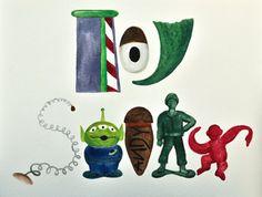 Toy Story illustration by TintsShadesFineArt on Etsy