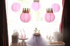 Such a pretty Sofia the First birthday party! See more party ideas at CatchMyParty.com!