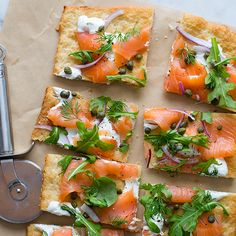 Pizza with fresh toppings are absolutely delicious, our Smoked Salmon Pizza is sure to please, even the pickiest pizza fan!