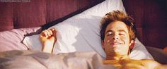 That time he made a morning person out of you. | Community Post: 13 Times Chris Pine's Chest Game Was Out Of Control