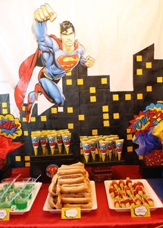 Superhero Birthday Party Ideas | Photo 8 of 53 | Catch My Party