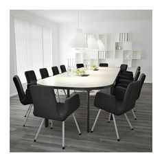 BEKANT Conference table - white/black - IKEA