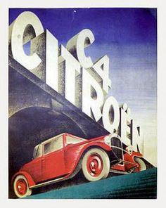 CITROEN C4 Vintage Poster: Artist: Valerio, Roger de (Roger Laviron). Circa: 1928. Origin: France.