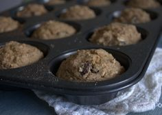oat flour banana muffins. -happyherbivore