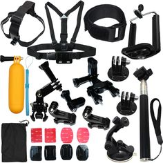 23-in-1 Sports Go pro Accessories Kit Bundle Attachments for Gopro Hero 4 3+ 3 2 1 SJ4000 SJ5000 HD Action Video Cameras DVR
