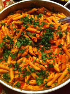 Pasta with Vodka Sauce - Bloomingfoods makes the BEST vodka sauce pasta... maybe I can make it now, too!