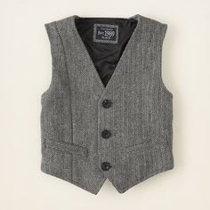 baby boy - jackets & vests - herringbone vest | Children's Clothing | Kids Clothes | The Children's Place
