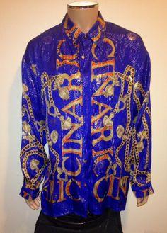 Vtg Kenzo Paris Paisley Baroque Shirt Button Front Free Size fits L P5b4kN