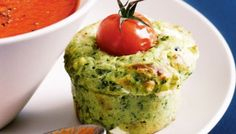 Spinach & Goat's Cheese Muffins by Taste. These cheesy savoury muffins pair perfectly with soup, or even as stand-alone snack. Savory Muffins, Cheese Muffins, Spinach Muffins, Healthy Muffins, Just Pies, Fairy Bread, Beef Pies, Food Buffet, Perfect Breakfast